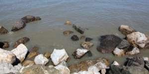 Rocky shoreline.